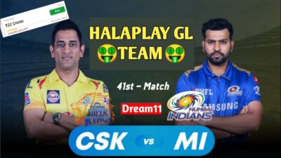 CSK Vs MI Dream11 Team | CSK Vs MI Dream11 IPL T20 23 Oct 41 Match | CSKvMI Today Match HALAPLAY