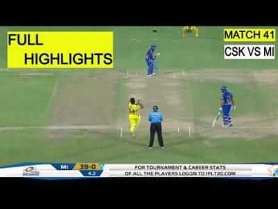 CSK Vs MI Full IPL 41 MATCH HIGHLIGHTS 2020 | CSK Vs MI Full Match Highlights 2020 | CSK Vs MI
