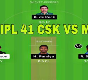 CSK vs MI 41st IPL Match Dream11 Team [ Playing XI ] CSK vs MI Dream11 Team, Full Analysis, IPL2020