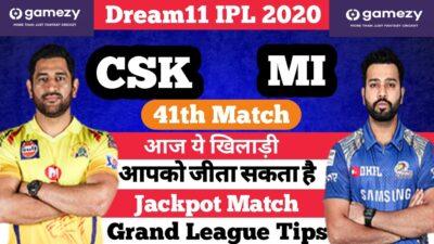 CSK vs MI | CHE vs MUM My11circle Team | CSK vs MI Dream11 Team | CSK vs MI 41th Match | IPL 2020