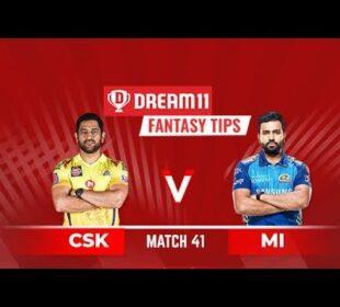 CSK vs MI | MI vs CSK | DREAM11 IPL 41TH MATCH | IPL 2020