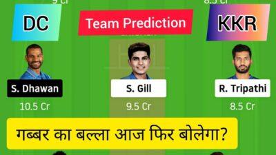 Delhi vs Kolkata Team Prediction | KKR vs DC | DC vs KKR Dream Team | DLI vs KOL Dream 11 team