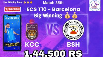 ECS Barcelona T10 KCC vs BSH match 35 Live winning proof Saga Flashback