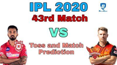 IPL 2020 43rd Prediction Sunrisers Hyderabad vs Kings XI Punjab | KXIP vs SRH Dream 11