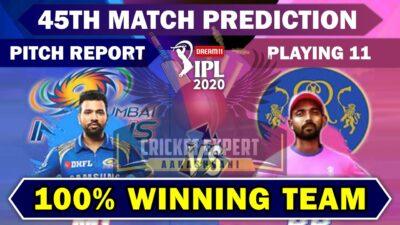 IPL 2020 : 45th Match Prediction | Rajasthan vs Mumbai | RR Vs MI | 100% Fixing Report Available