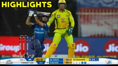 IPL 2020 : CSK vs MI Full Match Highlights in Hindi | Match- 41 | IPL 2020 HIGHLIGHTS