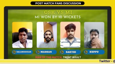 IPL 2020 | CSK vs MI | Post Match Review & Discussion with Fans
