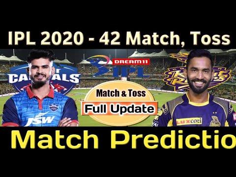IPL 2020 DC vs KKR 42nd match, toss winner prediction | Who will win today kkr vs dc match ipl 2020
