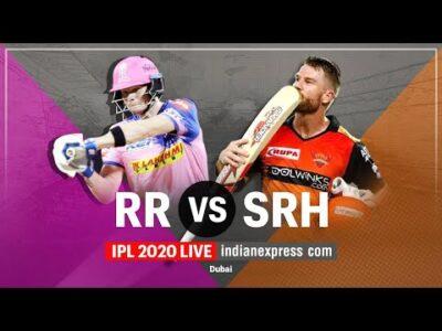 IPL 2020 LIVE Cricket - RR vs SRH | आईपीएल लाइव | Rajasthan Royals vs Sunrisers Hyderabad