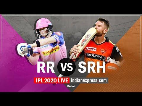 IPL 2020 LIVE Cricket - RR vs SRH   आईपीएल लाइव   Rajasthan Royals vs Sunrisers Hyderabad