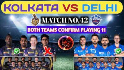 IPL 2020 Match No.42 Kolkata Knight Riders Vs Delhi Capitals Playing 11 & H2H Prediction||KKR Vs DC