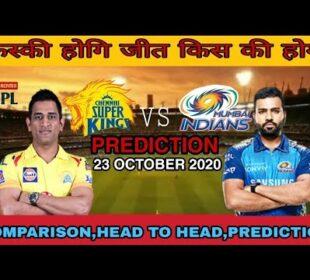 IPL 2020 match 41 news updates || channai super kings vs mumbai indians || prediction #IPL