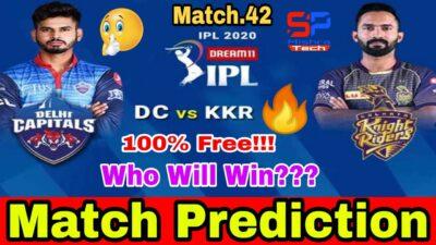 IPL 2020:Kolkata Knight Riders Vs Delhi Capitals|42nd Match Prediction|KKR vs DC|SpMishra Tech