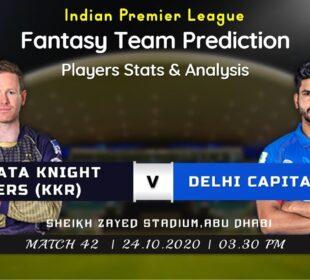 KKR v DC Dream11 Prediction in Tamil | KOLKATA KNIGHT RIDERS v DELHI CAPITALS Dream11Team | IPL 2020
