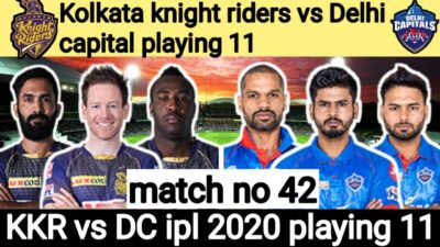 KKR vs DC ipl 2020 playing 11
