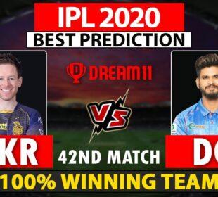 Kolkata Knight Riders vs Delhi Capitals Dream11 Prediction | KOL vs DC | KKR VS DC | IPL 2020
