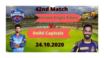 Kolkata Knight Riders vs Delhi Capitals LIVE Cricket Scorecard – #KKRvsDC| IPL 2020_42th_Match