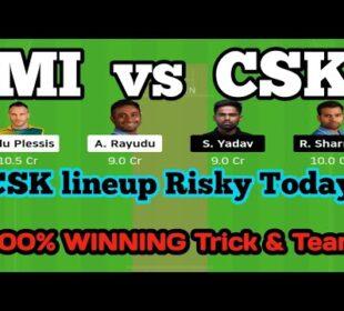 MI VS CSK DREAM11 TEAM, mi vs csk dream11 team prediction, mi vs csk dream11 2020