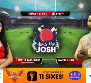 RAJASTHAN ROYALS VS SUNRISERS HYDERABAD | 40th Match | Live Cricket Score | Prediction | 11Sixes.com