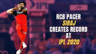 RCB PACER SIRAJ CREATES RECORD AT IPL 2020