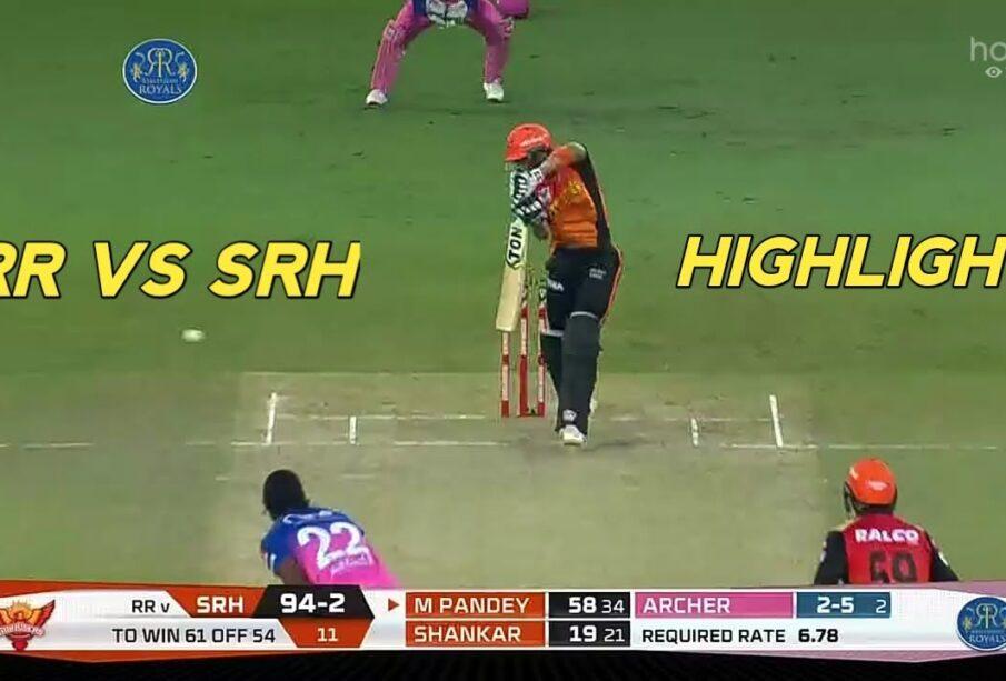 SRH vs RR IPL 2020 FULL MATCH HIGHLIGHTS   SUNRISERS HYDERABAD vs RAJASTHAN ROYALS MATCH HIGHLIGHTS
