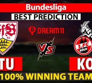STU vs KOL Dream11 Prediction | KOL vs STU Dream11 Team | STU vs KOL  Dream11 | Bundesliga