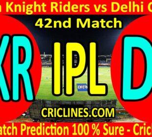 Today Match Prediction-Kolkata Knight Riders vs Delhi Capitals-IPL T20 2020-42nd Match