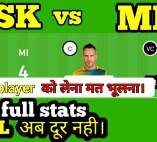 csk vs mi dream11   csk vs mi   CSK VS MI DREAM11   csk vs mi team prediction today grand league