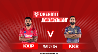 kxip vs kkr dream11-Match-24
