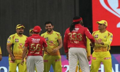 ipl 2020 gaikwad leads csk to 9-wicket win, kxip knocked out